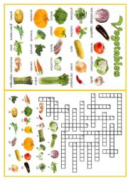 English Worksheet: VEGETABLES