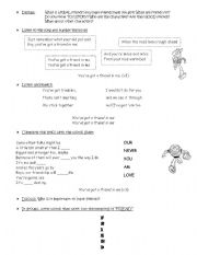 English Worksheets: Toy Story song