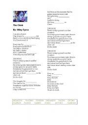 English Worksheet: Miley Cyrus - The Climb