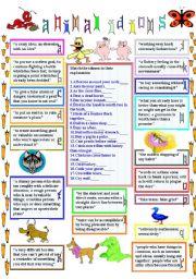 English Worksheet: animal idioms 1