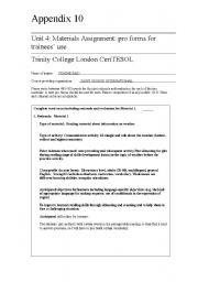 English Worksheets: Material for trainees