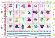 English Worksheet: Clothes & Accessories part1 (pictionary)