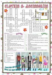 Clothes & Accessories part 3 (crossword)