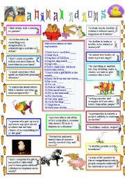 animal idioms 2