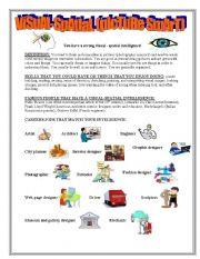 worksheet: Visual-Spatial Intelligence