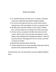 English Worksheet: Plan for working Airport - Customs using the film The Terminal