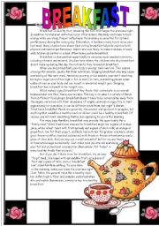 English worksheet: Reading comprehension: ** BREAKFAST** passive voice + modals