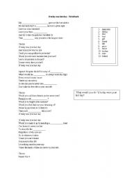 English Worksheets: If today was your last day - Nickelback