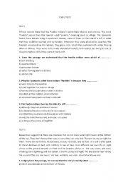 English Worksheet: TOEFL TESTS