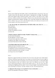 English Worksheets: TOEFL TESTS