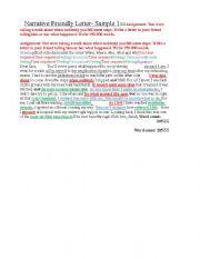 English teaching worksheets friendly letters english worksheets igcse esl narrative friendly letter model spiritdancerdesigns Images