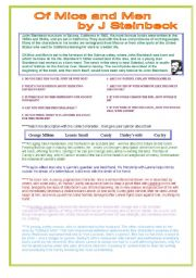 English Worksheets: OF MICE AND MEN