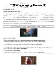 English Worksheet: Tangled