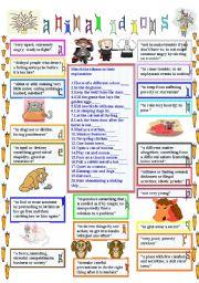 English Worksheet: animal idioms 3