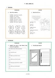 English Worksheets: revision and extension activities