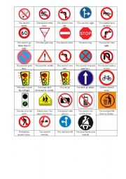 English Worksheet: Must Mustn´t on Signs