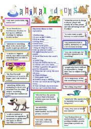English Worksheet: animal idioms 4