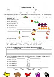 English Worksheet: The Very Hungry Caterpillar & Brown Bear, Brown Bear what do you see?