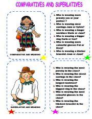 English Worksheet: COMPARATIVES AND SUPERLATIVES - WEARING