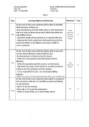lesson plan - worksheet by muneer alhassni