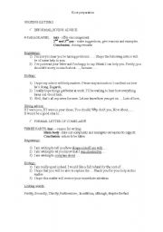 English worksheet: Ecce writing