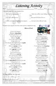 English Worksheets: Whatever by Oasis