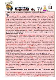 English Worksheet: Reading and Grammar Test