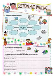 English Worksheets: module 5 section 5 writing