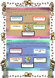 English Worksheets: Role play and writing - READING *** advanced