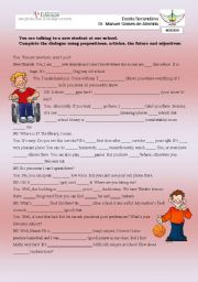 English Worksheets: MEETING THE NEW STUDENT