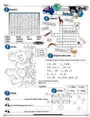 English Worksheet: Around The World Series_07 Australia (Fully Editable + Key)