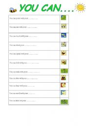 English Worksheets: face parts and verbs