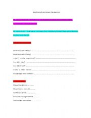 English Worksheets: Read the texts and answer the questions