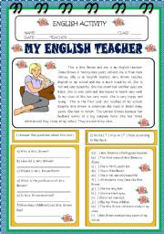 English Worksheet: READING