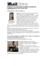 English Worksheet: Passive voice- newspaper article