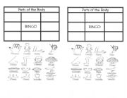 English Worksheets: Body parts bingo
