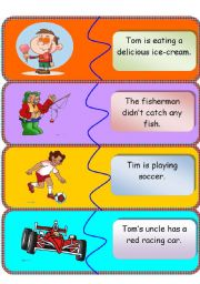 English Worksheets: Match picture to sentence