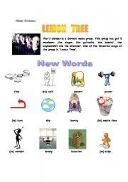 English Worksheet: lemon tree