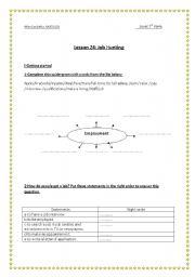 English Worksheet: job hunting