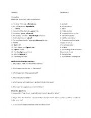 English Worksheet: Spiderman 2 worksheet - expressions and questions