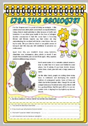 English Worksheets: LISA, THE ECOLOGIST