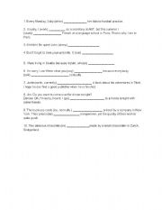 English Worksheets: pte simple and continuous