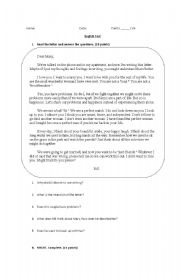 English Worksheet: Intensifiers and Might