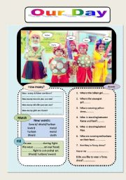 English Worksheets: Our Day