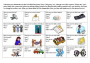 English Worksheet: Have you ever - activity sheet