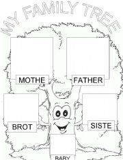 english worksheet my family tree