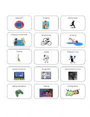 English Worksheets: Acitvity Cards Set 1