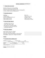 English Worksheets: Song - Sunday Mornig (Maroon 5)