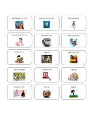 English Worksheets:  Activity Cards Set 2
