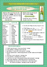 English Worksheet: adjectives ending with Ed and Ing